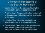 common interpretations of the book of revelation