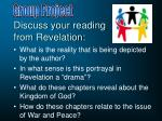 discuss your reading from revelation