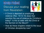 discuss your reading from revelation1
