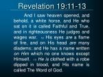 revelation 19 11 13