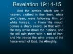 revelation 19 14 15