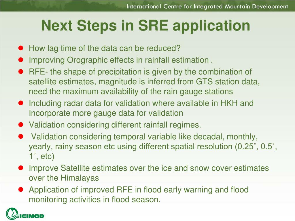 Next Steps in SRE application