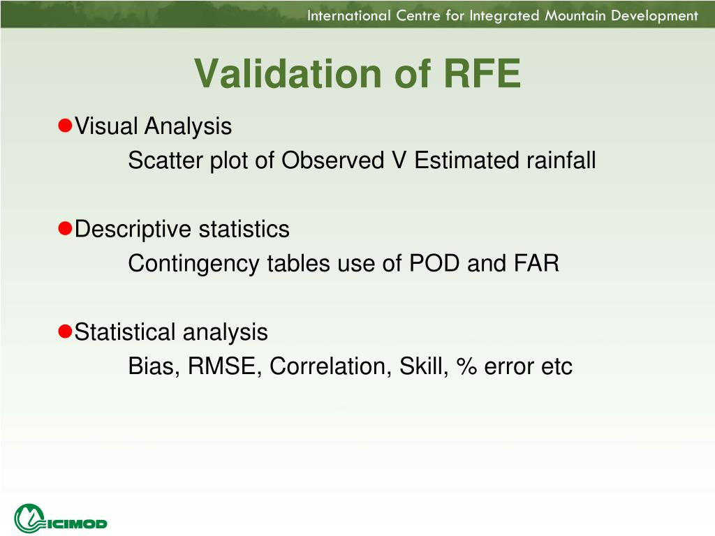 Validation of RFE