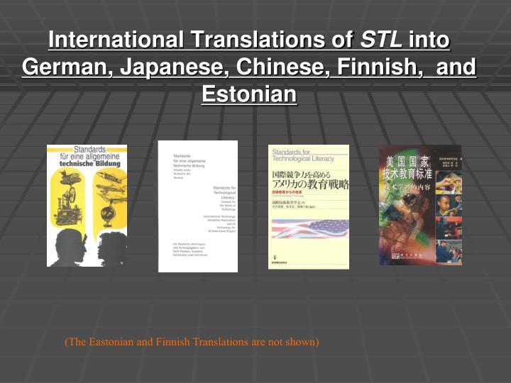 International Translations of