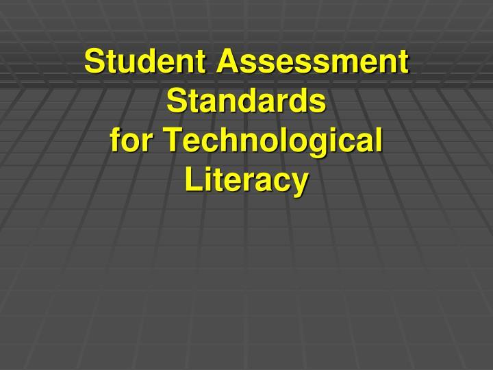 Student Assessment Standards
