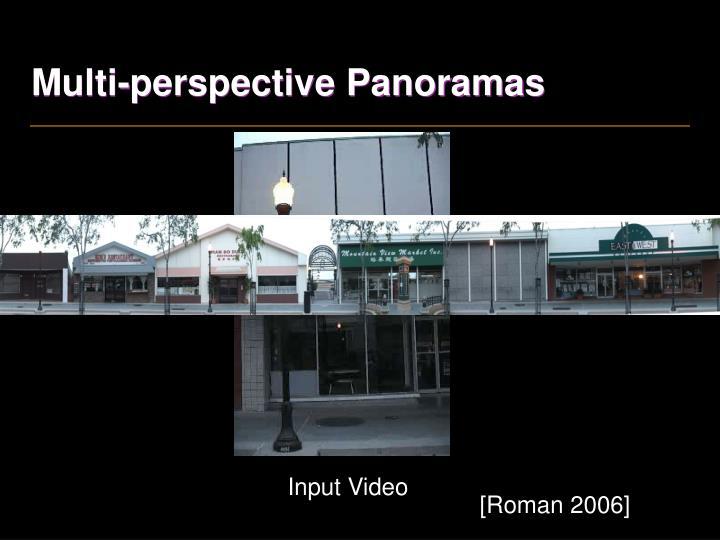 Multi-perspective Panoramas