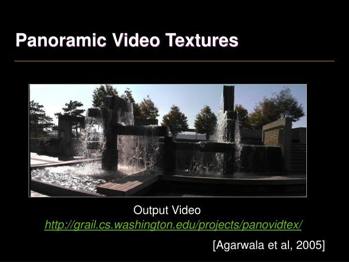 Panoramic Video Textures