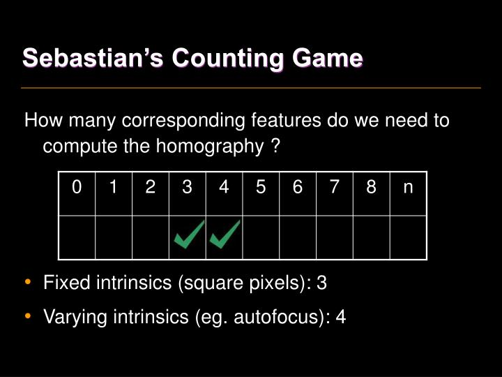 Sebastian's Counting Game