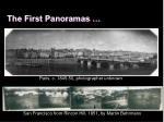 the first panoramas