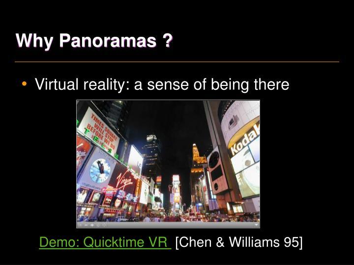 Why panoramas1