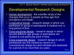 developmental research designs