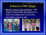 erikson s fifth stage