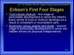 erikson s first four stages