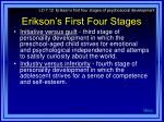 erikson s first four stages1