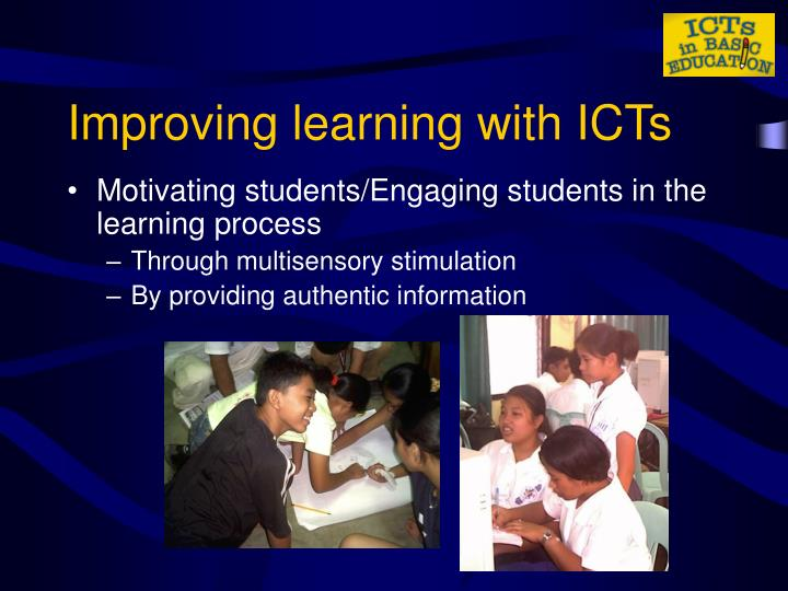 Improving learning with ICTs