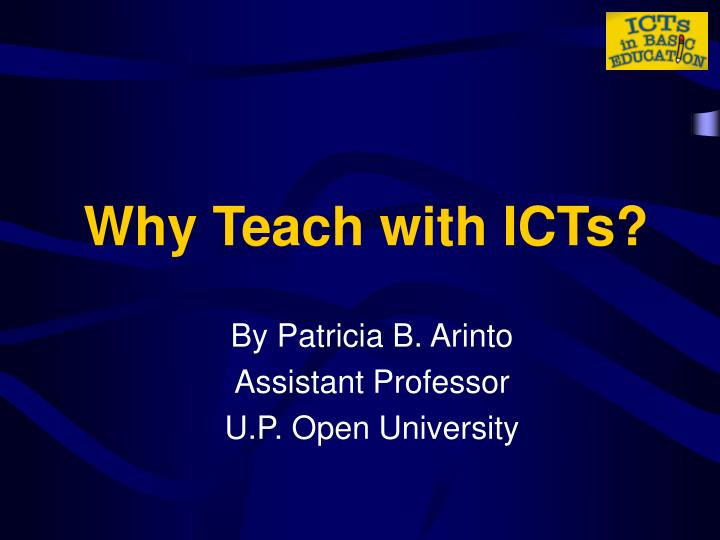 why teach with icts n.