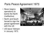 paris peace agreement 1973