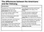 the differences between the americans and the vietcong10