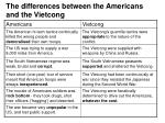 the differences between the americans and the vietcong11