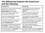 the differences between the americans and the vietcong12
