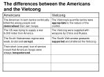 the differences between the americans and the vietcong7