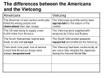 the differences between the americans and the vietcong8