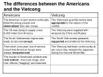 the differences between the americans and the vietcong9