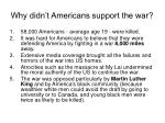 why didn t americans support the war