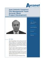 juan antonio casanova the management team avconet spain project development