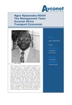 ngoe njasawaka ndoh the management team avconet africa transport economist
