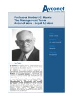 professor herbert g harris the management team avconet asia legal advisor