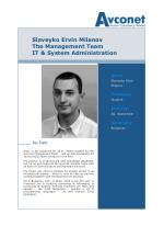 slaveyko ervin milanov the management team it system administration