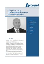 zbigniew labaj the management team executive director