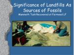 significance of landfills as sources of fossils mammoth tusk recovered at fairmead lf