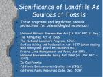 significance of landfills as sources of fossils12