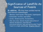 significance of landfills as sources of fossils5