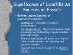 significance of landfills as sources of fossils9