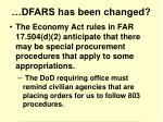 dfars has been changed