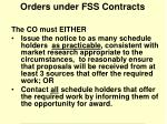 orders under fss contracts
