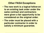 other fasa exceptions