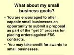 what about my small business goals