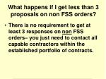 what happens if i get less than 3 proposals on non fss orders