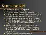 steps to start mdt