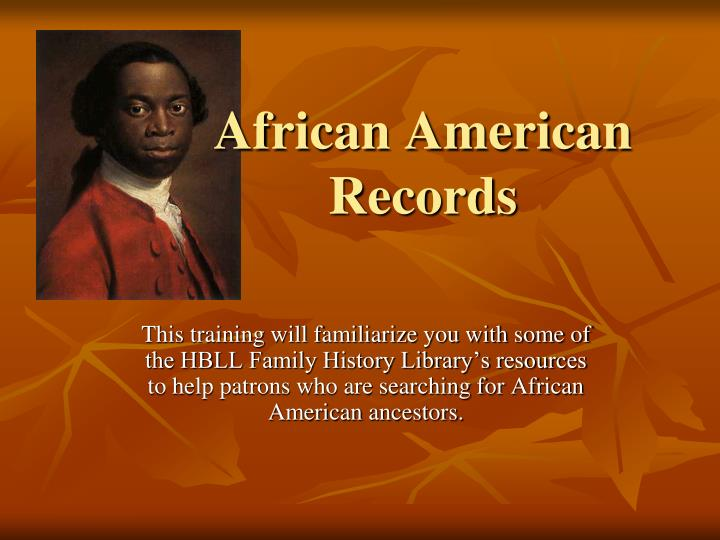 african american records n.