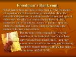 freedman s bank cont
