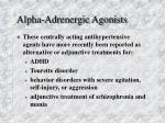 alpha adrenergic agonists