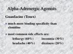 alpha adrenergic agonists2