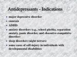 antidepressants indications