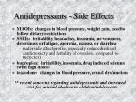 antidepressants side effects