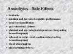 anxioltyics side effects